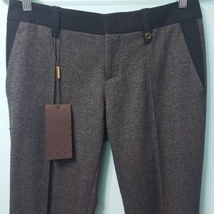 Gucci Slim pintuck Wool Mid-rise Pant.